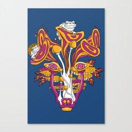 Mushroom wolf Canvas Print