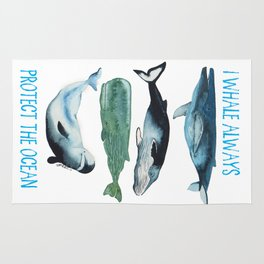 whales alwhales Rug