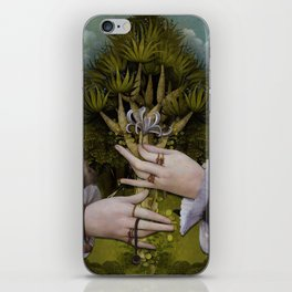"""""""The hands of Bosch and the Spring"""" iPhone Skin"""