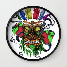 Face in Colors Wall Clock