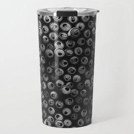 Black and white soda cans pattern Travel Mug