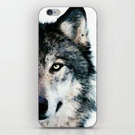 Wolf Art - Timber by Sharon Cummings iPhone Skin