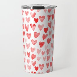 Watercolor heart pattern perfect gift to say i love you on valentines day Travel Mug
