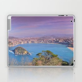 La Concha Bay seen from Igeldo Mount. Laptop & iPad Skin