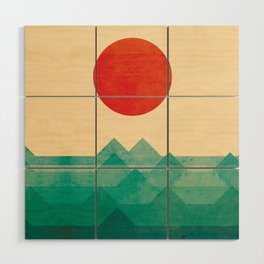 The ocean, the sea, the wave Wood Wall Art
