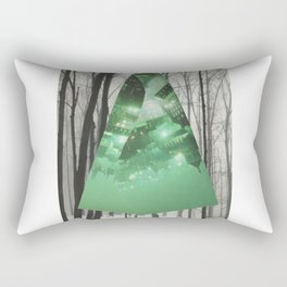 Emerald in the Trees Rectangular Pillow