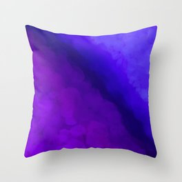 Deep Dark Abyss - Ultra Violet Ombre Abstract Throw Pillow