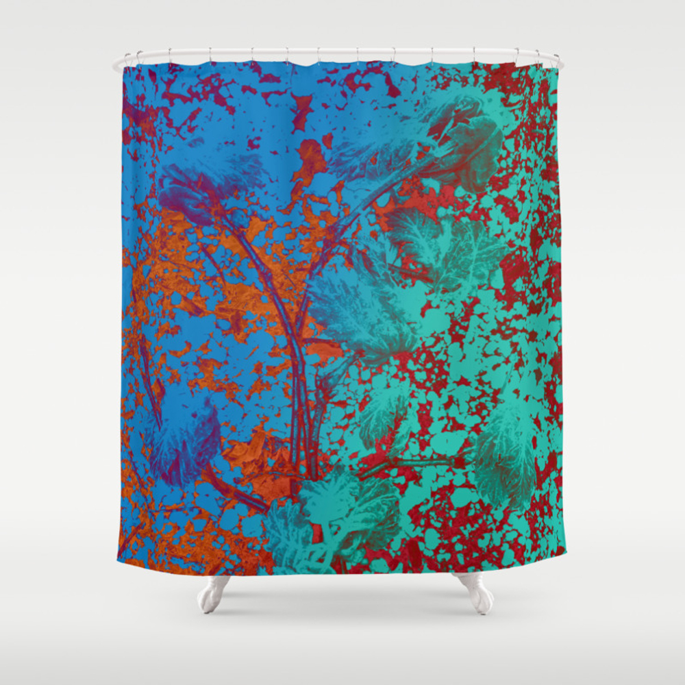 Vibrant Matters Patterned Shower Curtain by Velvetwater CTN8979504
