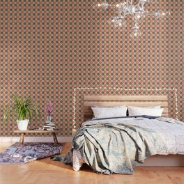 Ethnic african pattern with Adinkra simbols Wallpaper