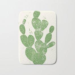 Linocut Cactus #1 Bath Mat