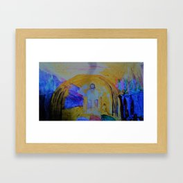 Jesus Sits on The Throne Framed Art Print