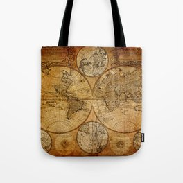 Vintage Map Tote Bag