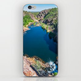 Panoramic view from above at Edith Falls, Australia. iPhone Skin