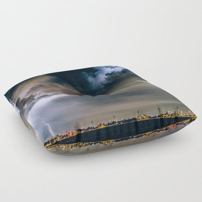 Lightning #clouds Floor Pillow