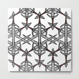 Pattern of Might Metal Print
