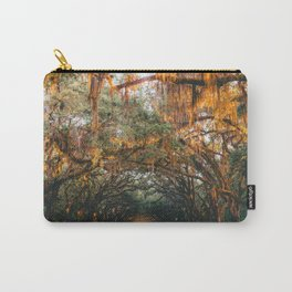 Tree Lined Road Carry-All Pouch