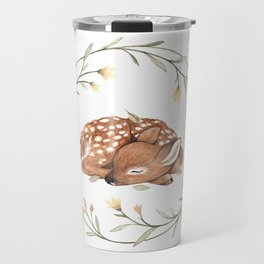 Wildflower Fawn Travel Mug