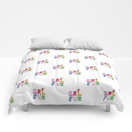GRL PWR pattern Comforters