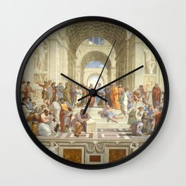 Raphael - The School of Athens Wall Clock