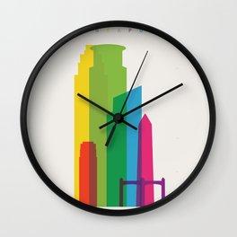 Shapes of Minneapolis Wall Clock