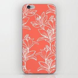 Lily Love in Coral Orange iPhone Skin