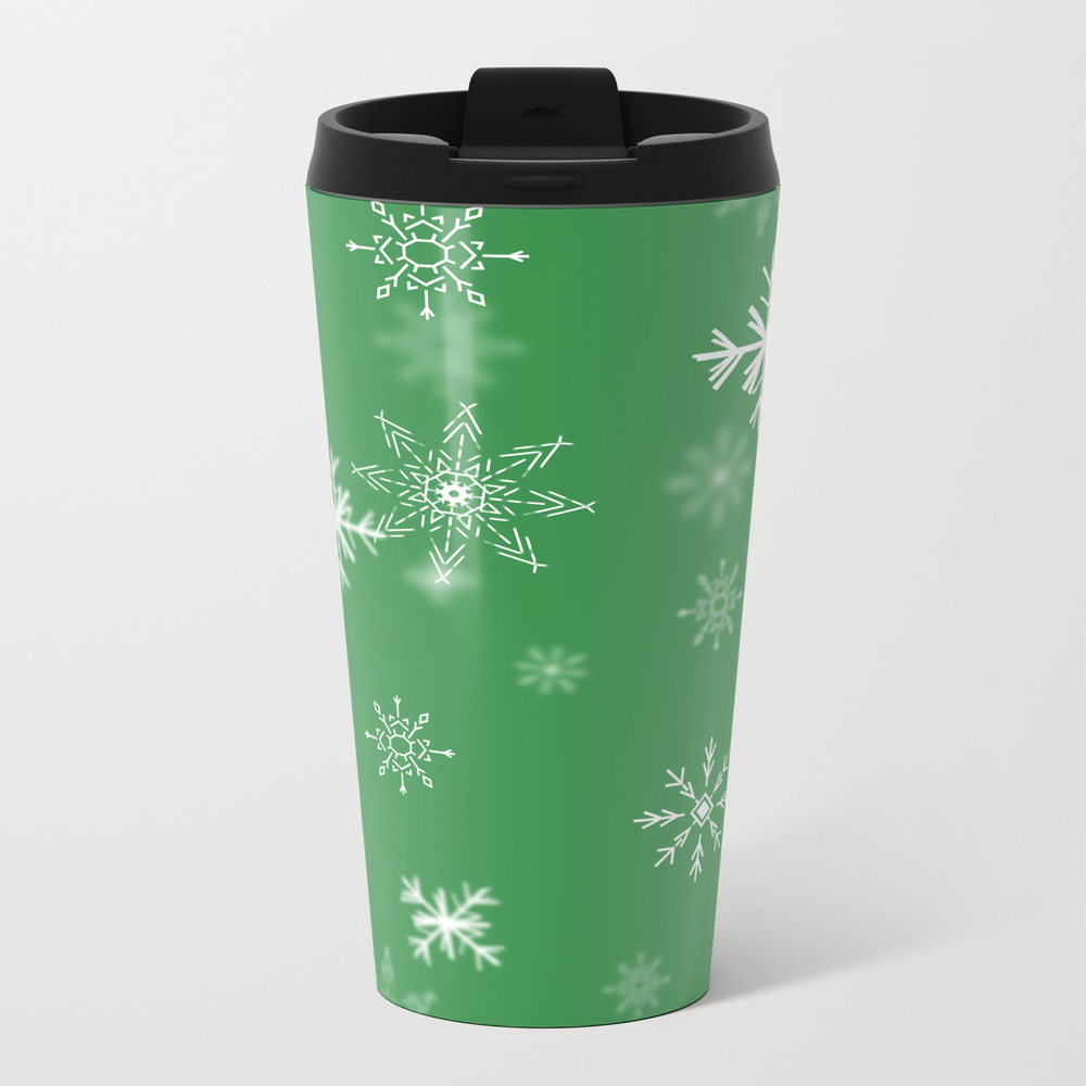 Christmas Snowflakes: Green Travel Cup TRM9008928