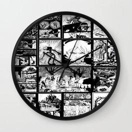 WHITE - A nne Frankenstein Book I - Resurrection Wall Clock