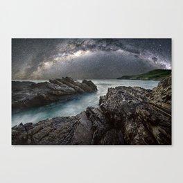 Milky Way Over the Ocean Canvas Print