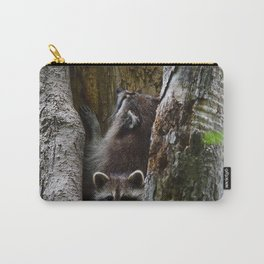 Young racoons at play Carry-All Pouch