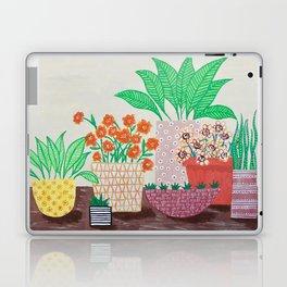 Plants in Printed Pots Laptop & iPad Skin