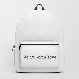 Do i. With Love. Typewriter Style Backpack