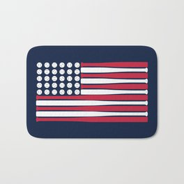 USA Baseball Flag Bath Mat