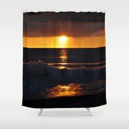 West Coast Sunset Shower Curtain