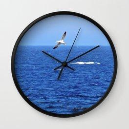 Northern Gannets in Flight Wall Clock