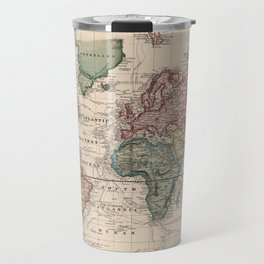 Vintage Map of The World (1833) Travel Mug