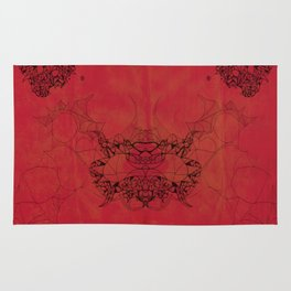 Creatures in red Rug