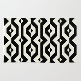 Modern bold print with diamond shapes Rug