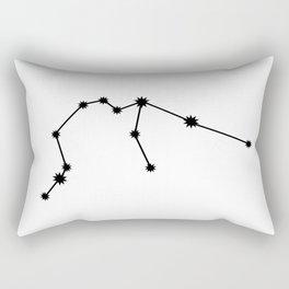 Aquarius Astrology Star Sign Minimal Rectangular Pillow