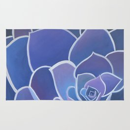 Purple Succulents Rug