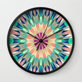 Cool Pink Retro Geometry #2 Wall Clock