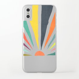 Rainbow ray Clear iPhone Case