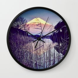 The Red in Deep Blue Wall Clock