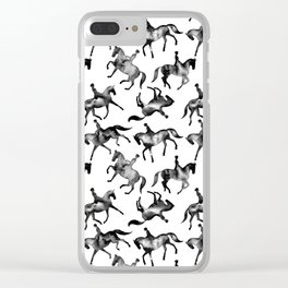 Dressage Horse Silhouettes Clear iPhone Case
