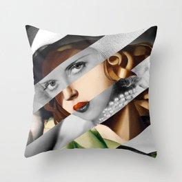 Tamara De Lempicka & Bette Davis Throw Pillow
