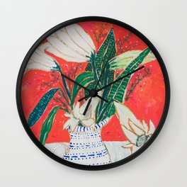 Easter Lily Bouquet Wall Clock