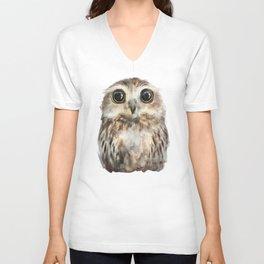 Little Owl Unisex V-Neck