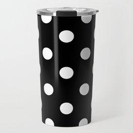 Black Polka Dots Palm Beach Preppy Travel Mug