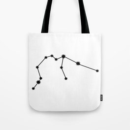 Aquarius Astrology Star Sign Minimal Tote Bag