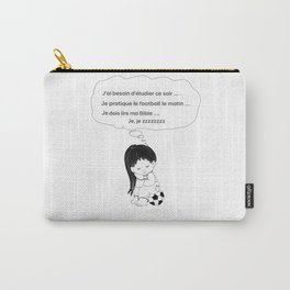 Tired french girl soccer player Carry-All Pouch