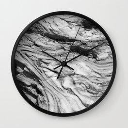 Monolithic Erosion Swirl Wall Clock
